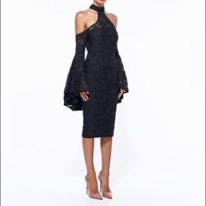 MISHA COLLECTION Open Shoulders Lace Dress Sz XS